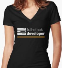 Full Stack Developer Women's Fitted V-Neck T-Shirt