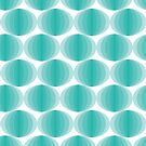 Aqua Ovals by Annie Webster