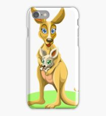 Cute kangaroos iPhone Case/Skin