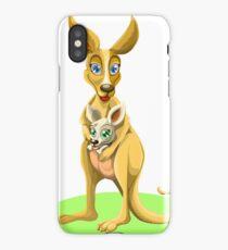 Cute kangaroos iPhone Case/Skin