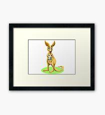 Cute kangaroos Framed Print