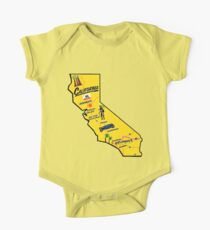 California Tourist Map One Piece - Short Sleeve