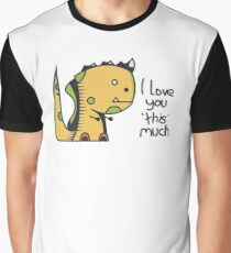 Affectionate Dinosaur Graphic T-Shirt