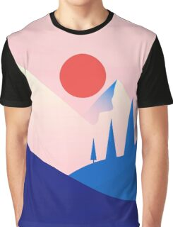 Flat Landscape Graphic T-Shirt