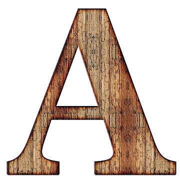 Wooden A letter by connor95