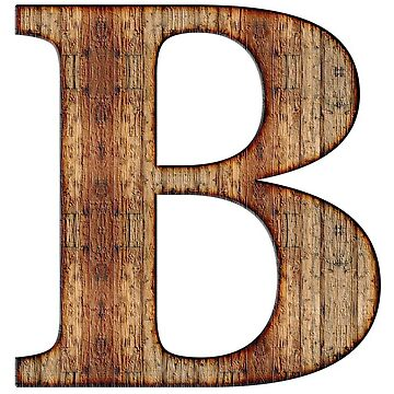 Wooden B Letter by connor95