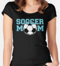 Soccer Mom - Blue text Women's Fitted Scoop T-Shirt