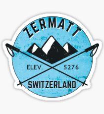 ZERMATT SWITZERLAND Mountain Skiing Ski Snowboard Snowboarding 4 Sticker