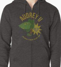 Audrey II Retro Advertisement- Little Shop  Zipped Hoodie