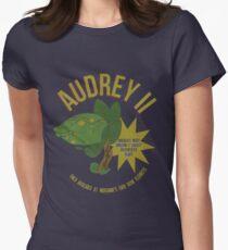 Audrey II Retro Advertisement- Little Shop  Women's Fitted T-Shirt