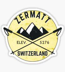 ZERMATT SWITZERLAND Mountain Skiing Ski Snowboard Snowboarding 5 Sticker