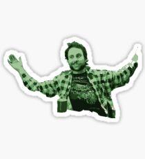 green shoulder shrug Sticker
