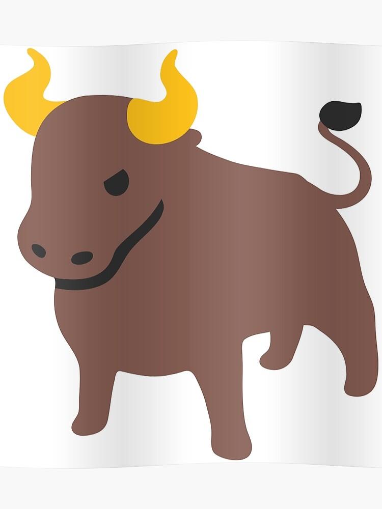 Bull emoji | Poster