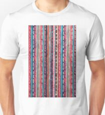 Red Etchnic Scandinavian Vertical Line Unisex T-Shirt
