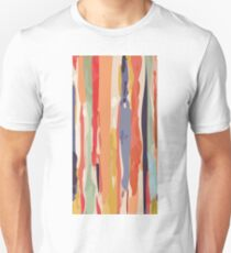 Abstract Vertical brush in MultiColor Unisex T-Shirt