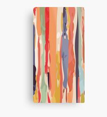 Abstract Vertical brush in MultiColor Metal Print
