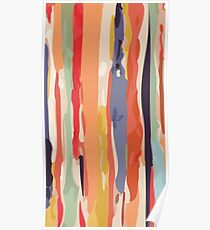 Abstract Vertical brush in MultiColor Poster