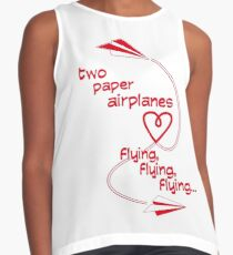two paper airplanes flying, flying, flying Contrast Tank