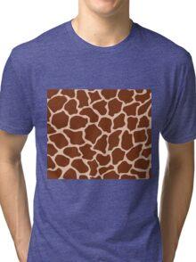 Desert Sand in Giraffe Pattern  Tri-blend T-Shirt