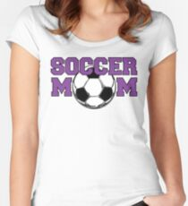 'Soccer Mom' in Purple Women's Fitted Scoop T-Shirt