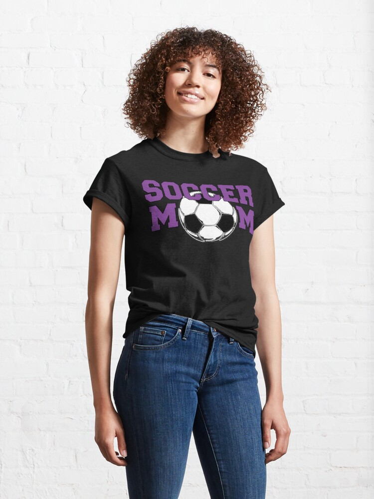 Alternate view of Soccer Mom in Purple Classic T-Shirt
