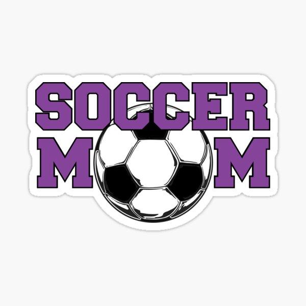 Soccer Mom in Purple Sticker