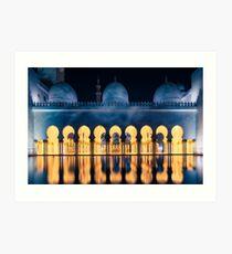 Sheikh Zayed Grand Mosque Abu Dhabi Art Print