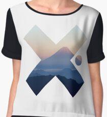 Cool Modern Volcano Landscape X Fashion Photography Clothing Design Chiffon Top