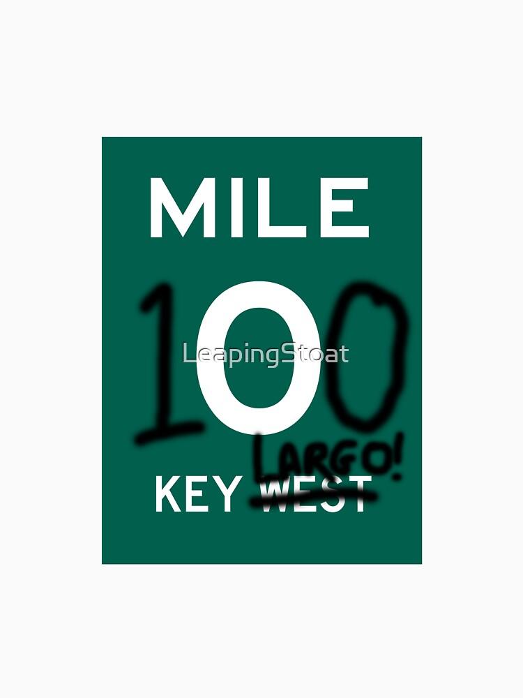 Key largo key west grafitti mile zero by leapingstoat