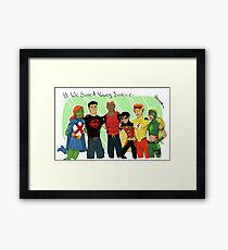 We Saved Young Justice Framed Print