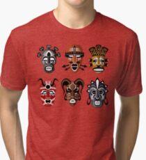 Tribal Masks Tri-blend T-Shirt