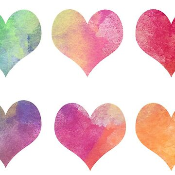 Colorful Hearts by connor95