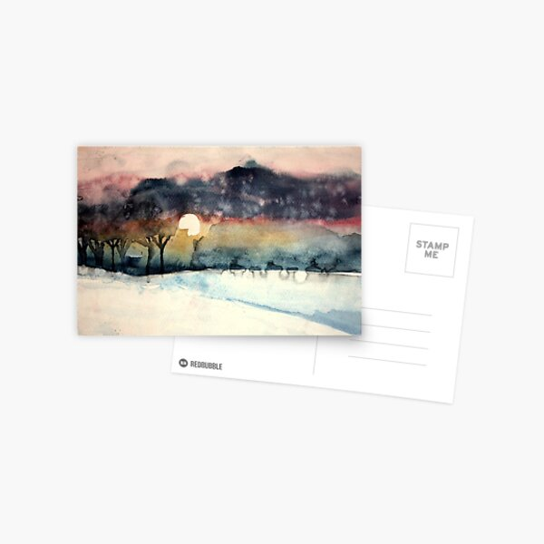 winter sunset Postcard