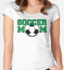 Soccer Mom in Green Women's Fitted Scoop T-Shirt