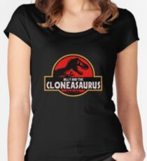 Billy and the Cloneasaurus Simpsons Women's Fitted Scoop T-Shirt