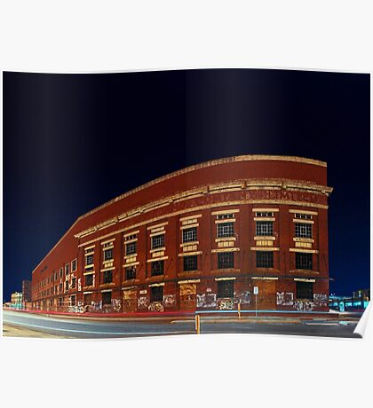 Old Fremantle Woolstores Building (Multi Row Panorama)  Poster