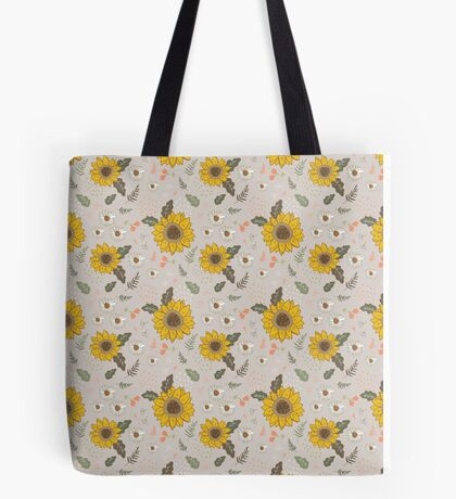 Sunflowers and daisies Tote Bag