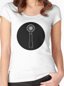 Portafilter (cercle noir series) Women's Fitted Scoop T-Shirt