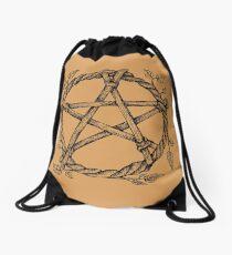 Pentagram. Talisman, elemental symbol. Drawstring Bag