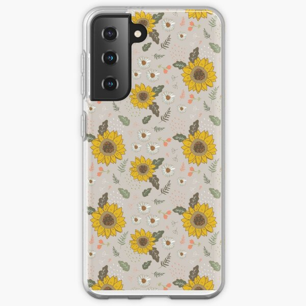 Sunflowers and daisies Samsung Galaxy Soft Case