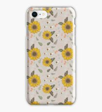 Sunflowers and daisies iPhone Case/Skin
