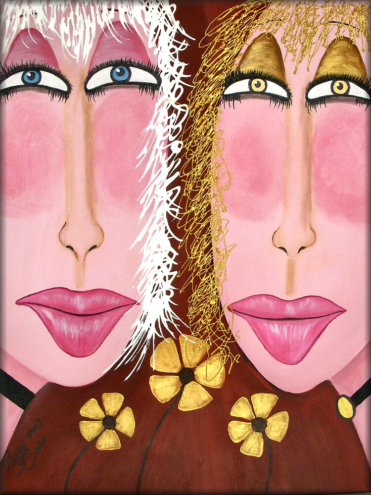 """Goldie & Marla...From the """"Glamour Girls"""" Series by Peggy Garr"""