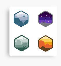 Star Wars Emblem Set Canvas Print