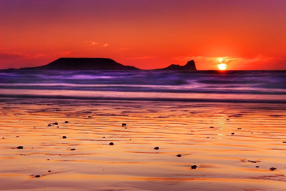 Gower Sunset I by Alex Clark