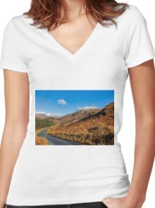 Duddon Valley Road Women's Fitted V-Neck T-Shirt