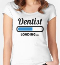 Dentist loading Women's Fitted Scoop T-Shirt