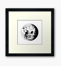 Earth Globe Framed Print