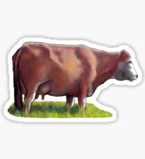 Brown Cow, Original Art, Farm, Country, Animal Sticker
