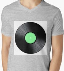 Music Record Mens V-Neck T-Shirt