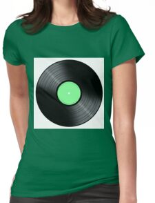 Music Record Womens Fitted T-Shirt